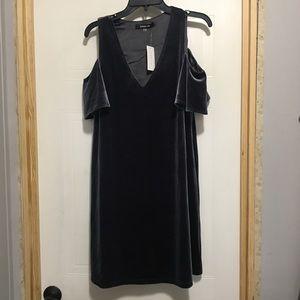NWT SugarLips Blue OTS Velvet Dress- Med